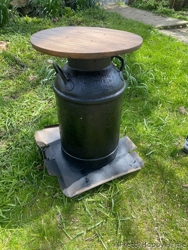 Vintage Milk Can Side Table during