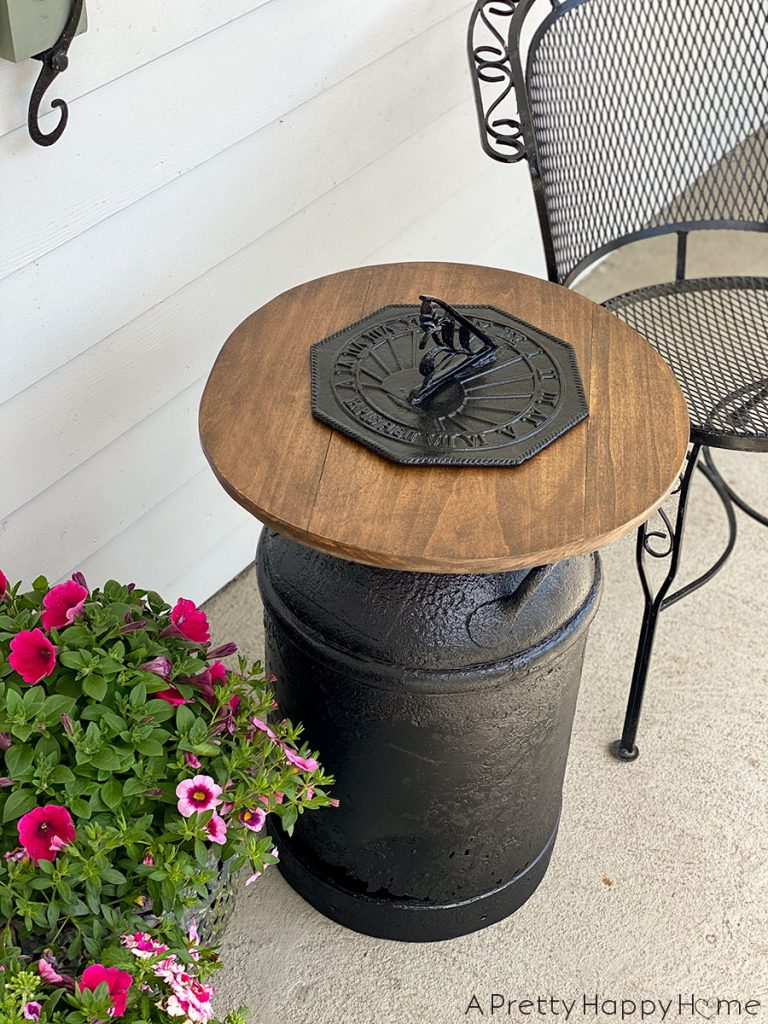 Vintage Milk Can Side Table