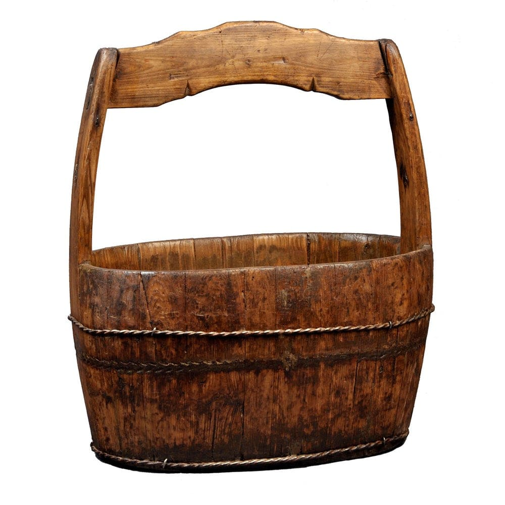 wood well bucket via overstock