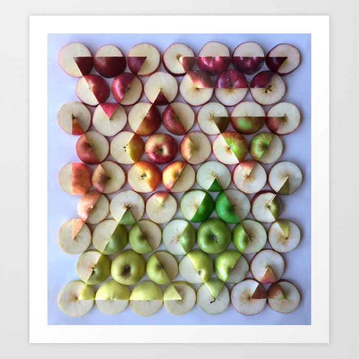 apple treeometry print by adam hillman on the happy list