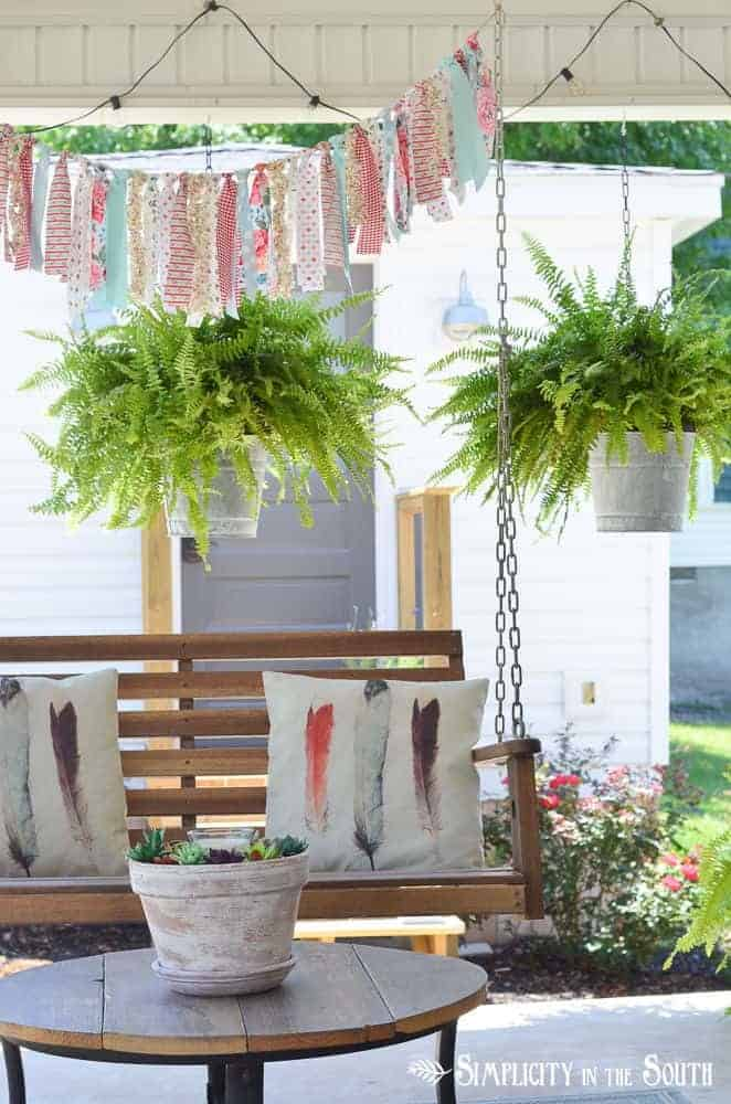 diy aged galvanized bucket hanging planter via simplicity in the south on the happy list