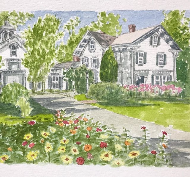 house portrait by holly m burns on the happy list