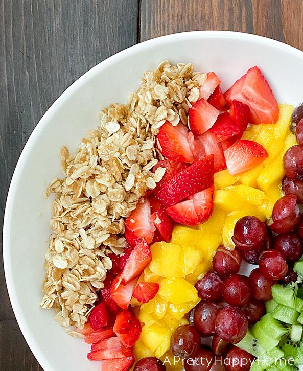fruit in pasta bowl