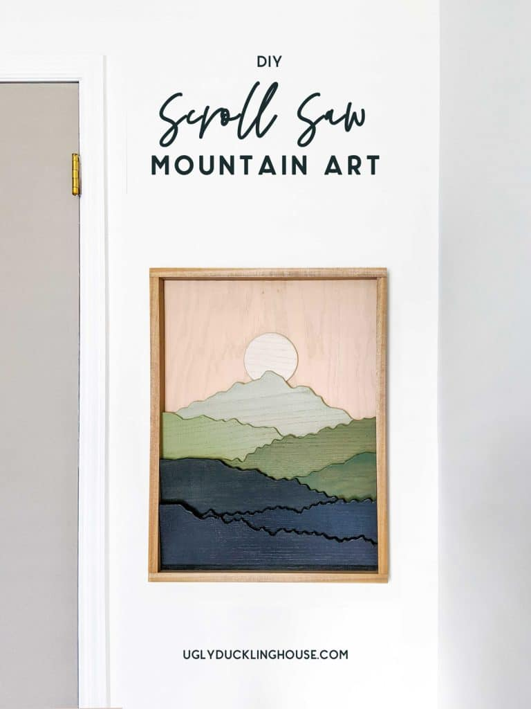scroll saw mountain art by ugly duckling house on the happy list