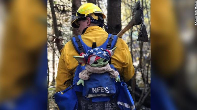 baby yoda firefighters via cnn on the happy list