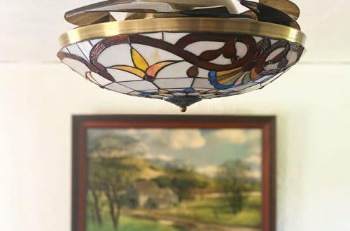 Tiffany-Style Bedroom Ceiling Fan