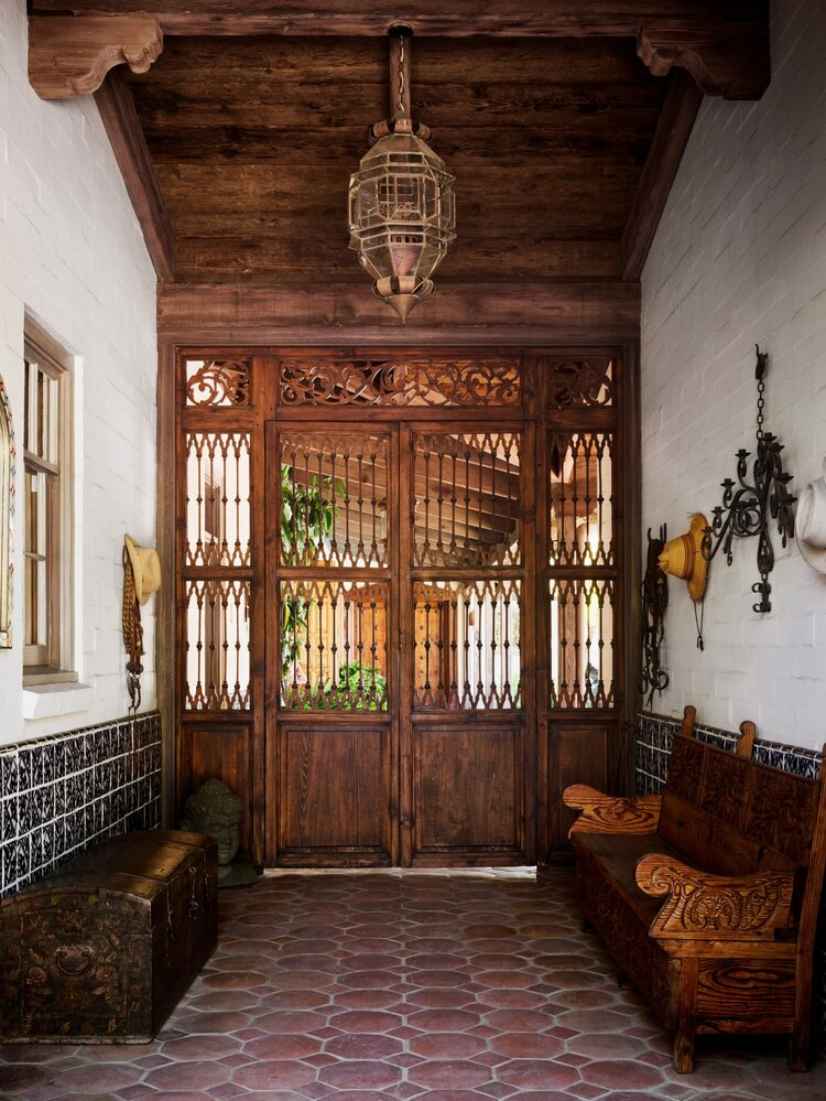 rainn wilson spanish hacienda via the nordroom on the happy list
