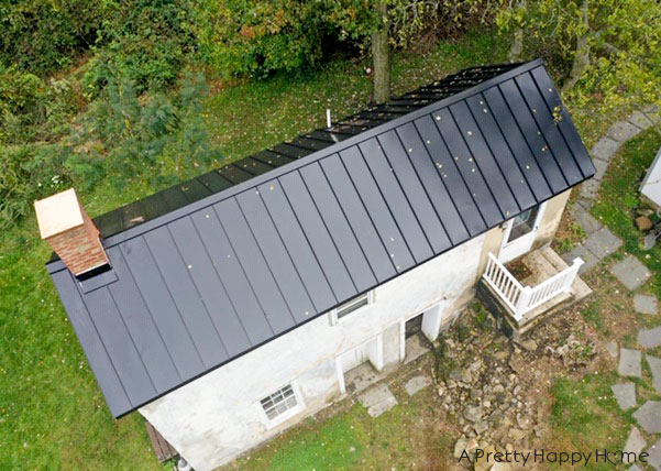 black metal roof for our carriage house