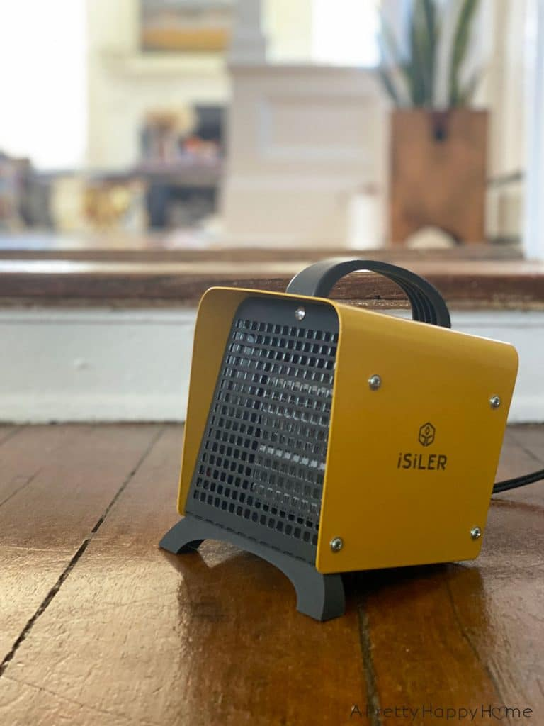yellow space heater by Isiler on the happy list